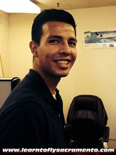 Image: Student Pilot Nestor Cisneros after first solo!