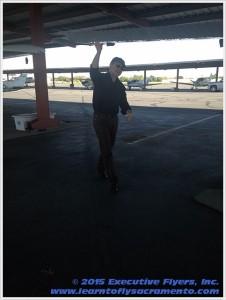 image: pre-flight safety walk around Executive Flyers, Sacramento