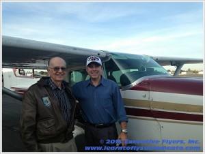 image: Ray Kinney with Steven Thompson owner Executive Flyers, Sacramento